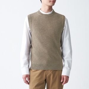 Muji Men's 100% Wool Vest (grey)
